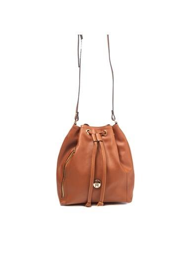 TH Bags TH Bags 2THCW2020209 Suni Deri Kadın Çapraz Çanta Taba